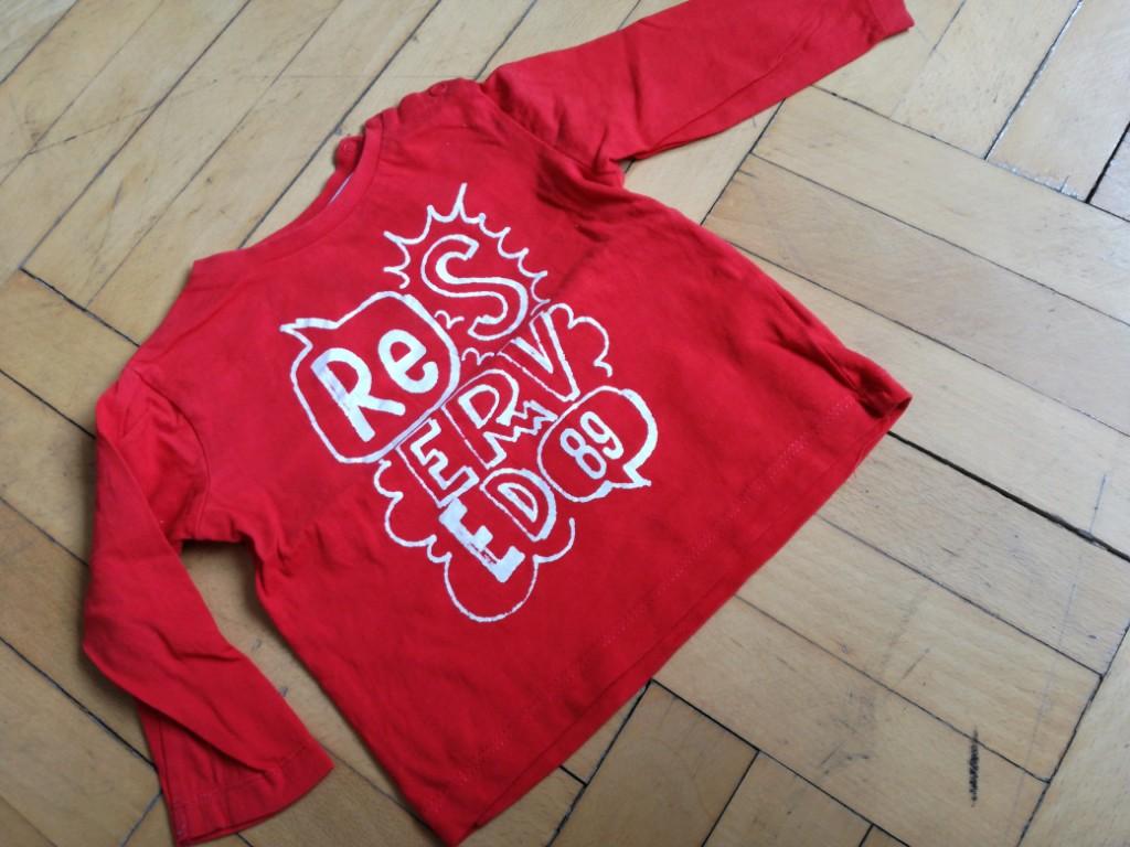 bluzeczka koszulka czerwona 74 Reserved