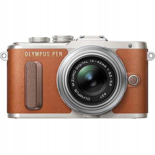Aparat Olympus PEN E-PL8 brązowy + 14-42 EZ