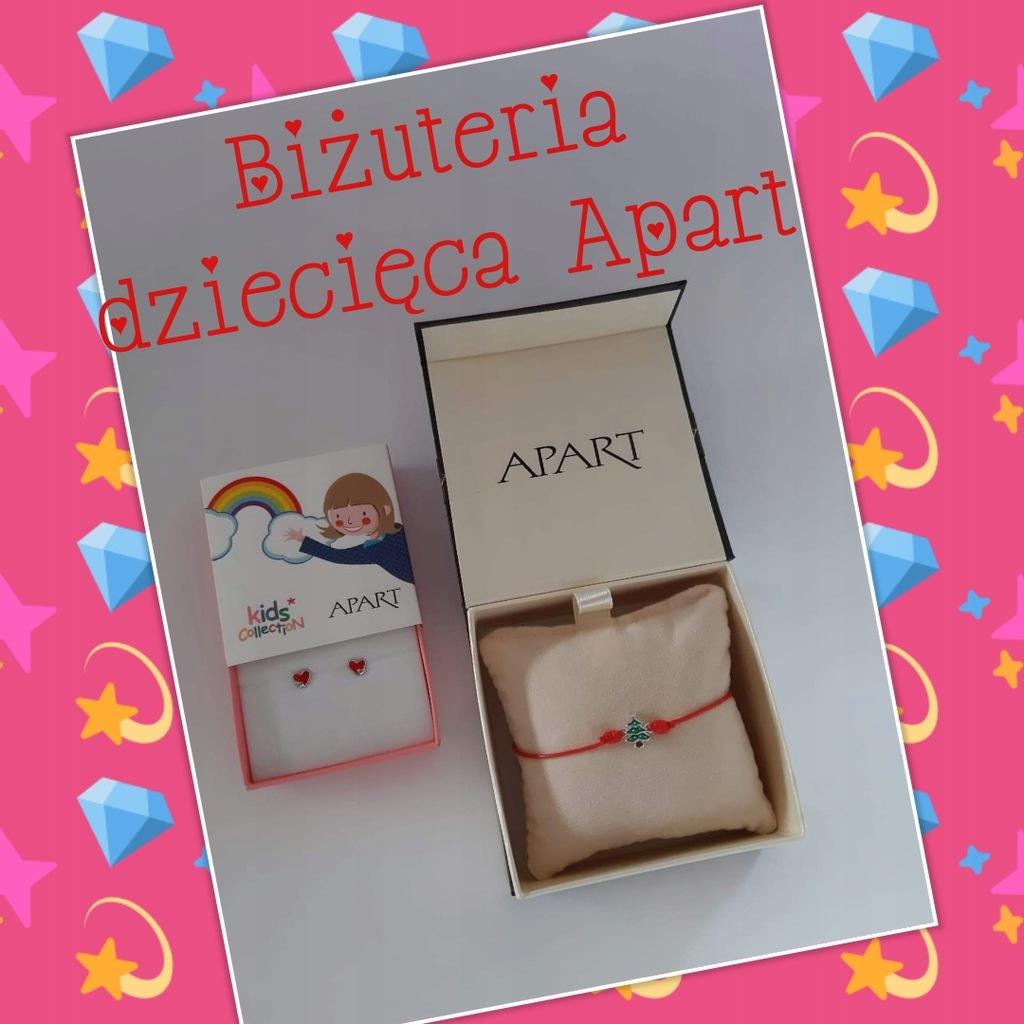 Biżuteria dziecięca APART kolczyki+bransoletka