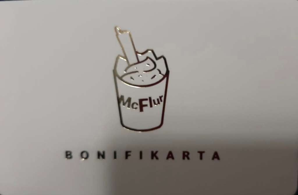 bonifikarta - Mcdonald's