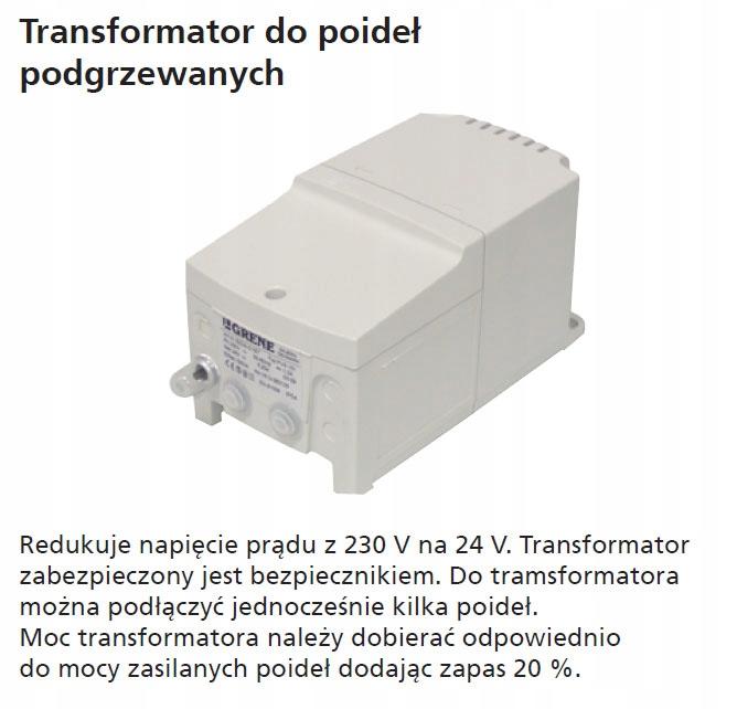 Transformator do poideł podgrzewanych 230/24 60 W