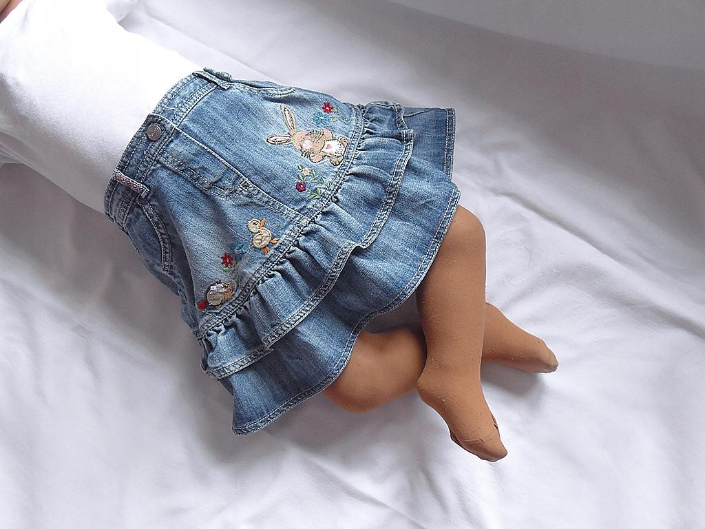 Jeansowa spódniczka NEXT, 98cm, 2-3 lata