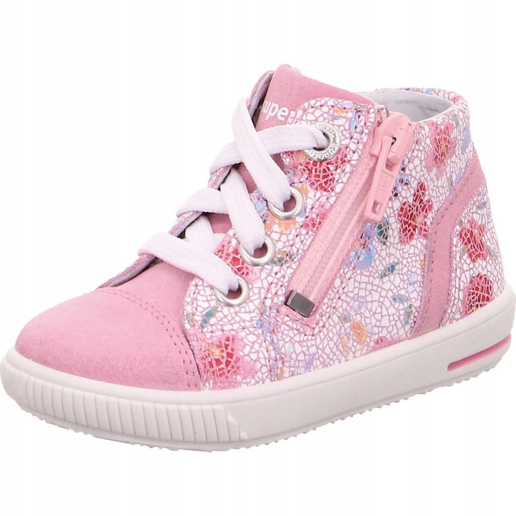 Trampki SUPERFIT Buty Kwiatki Różowe 21