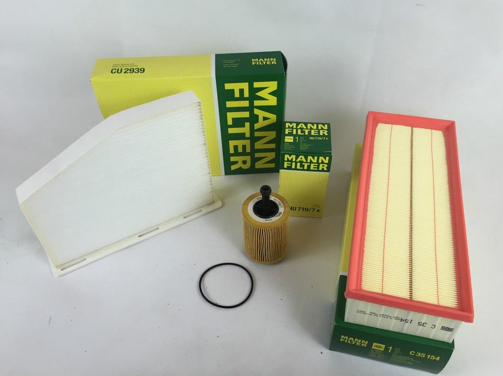 Zestaw filtrow SUPERB OCTAVIA II 1,9 2,0 TDI Mann