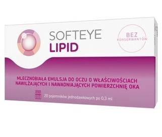 Apteczne Krople do oczu Softeye Lipid 20 x 0,3 ml
