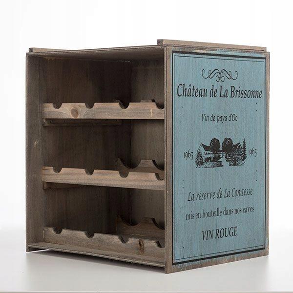 Drewniany stojak na wino - styl vintage
