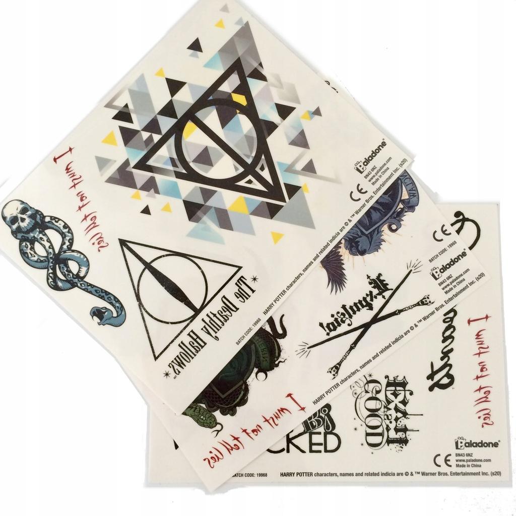 Tatuaz Harry Potter Zestaw Tymczasowych Tatuazy 9210970375 Oficjalne Archiwum Allegro
