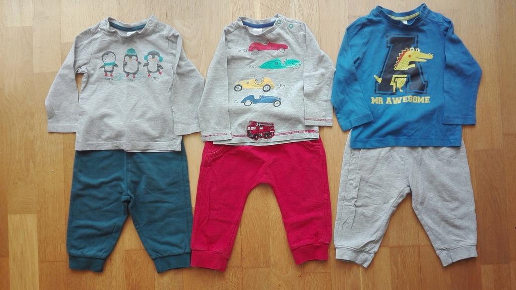 Komplet T-shirt + spodnie C&A 80 3 szt.
