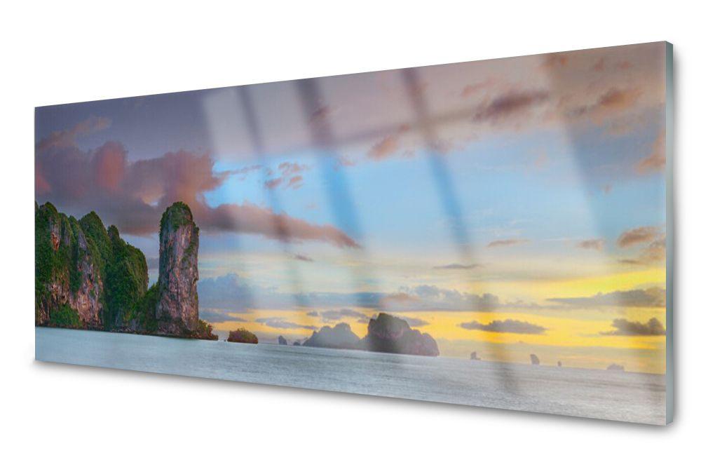 Lacobel Panel Szklany Ścienny Morze Góry 120x60