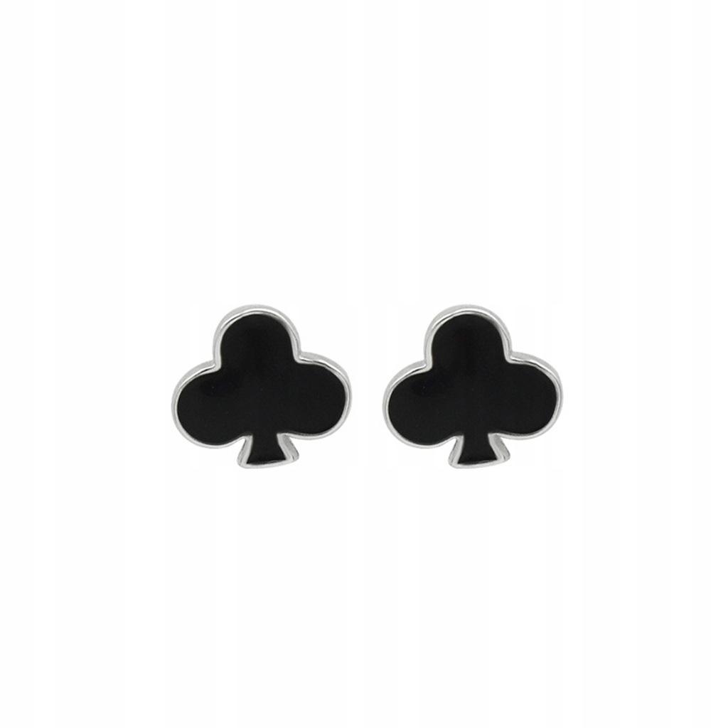1 Pair S925 Sterling Silver Earrings Creative Blac