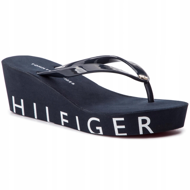 TOMMY HILFIGER WEDGE BEACH KLAPKI 41 TM1215