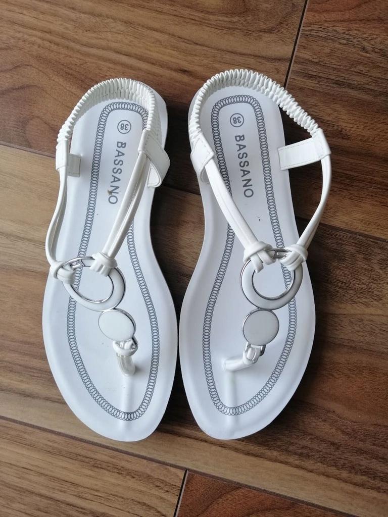 Sandały japonki Bassano białe 38