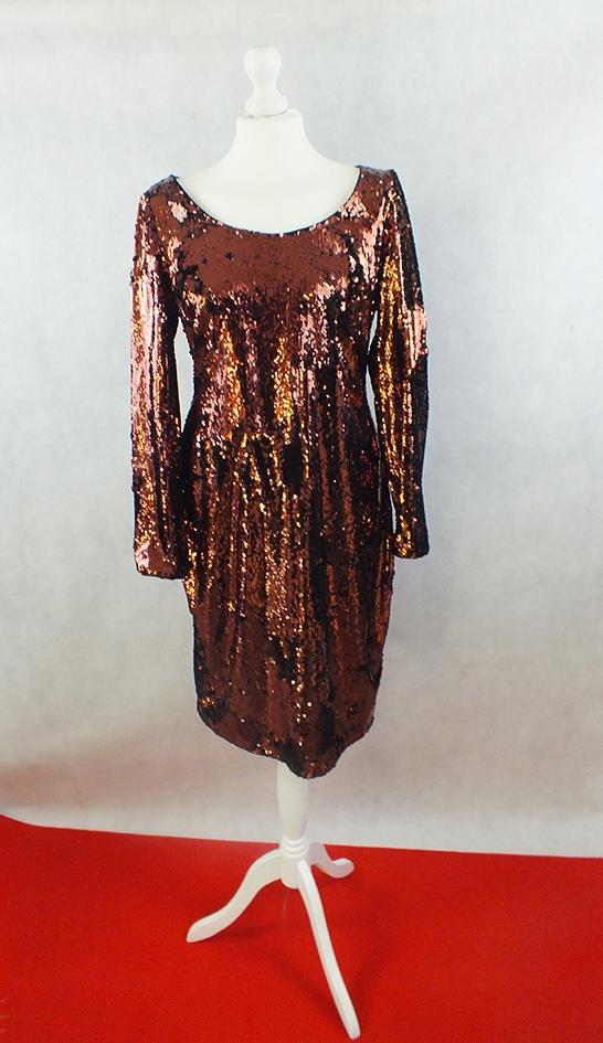 Cekinowa sukienka M/L --Calvin Klein--