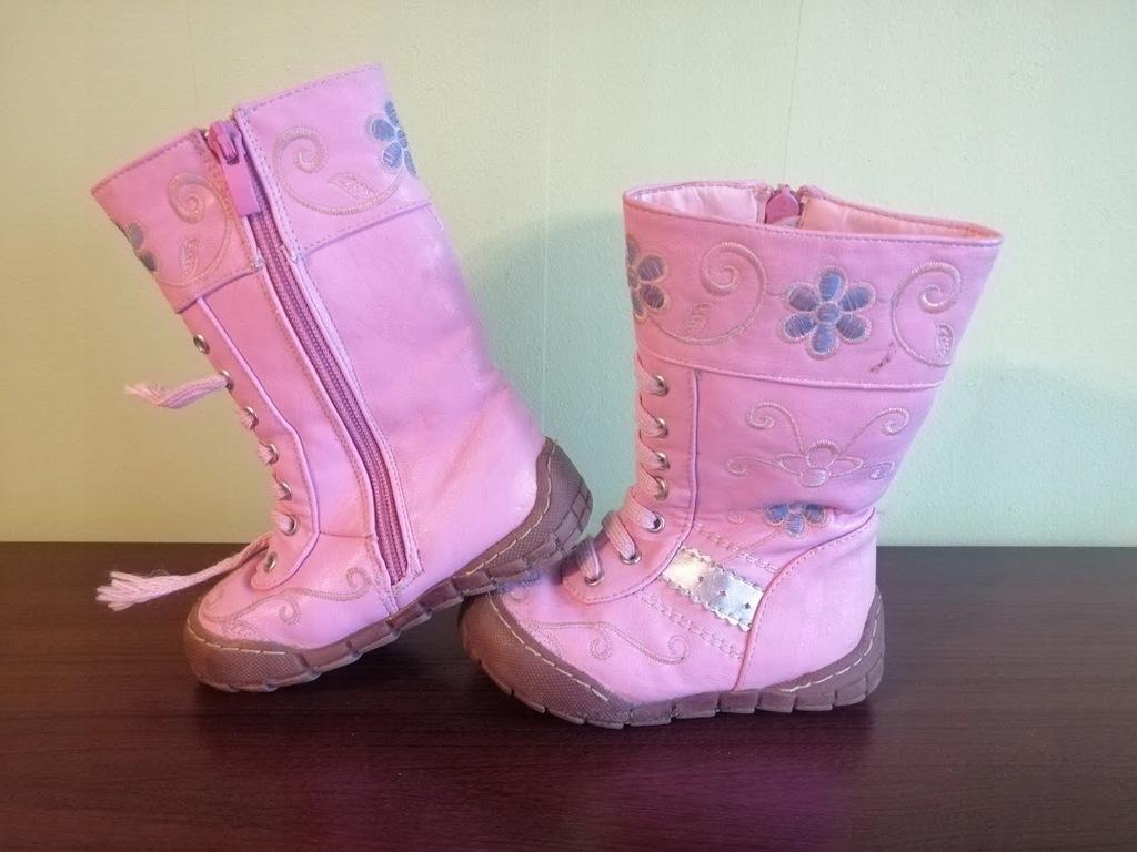 Kozaki dziewczęce różowe Badoxx 23
