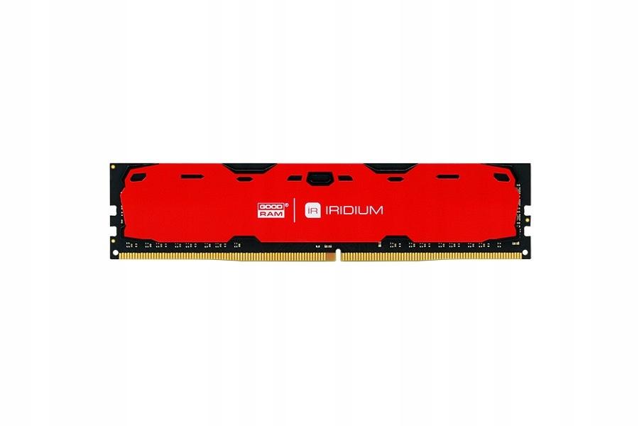 DDR4 IRIDIUM 8GB/2400 15-15-15 1024*8 Czerwona