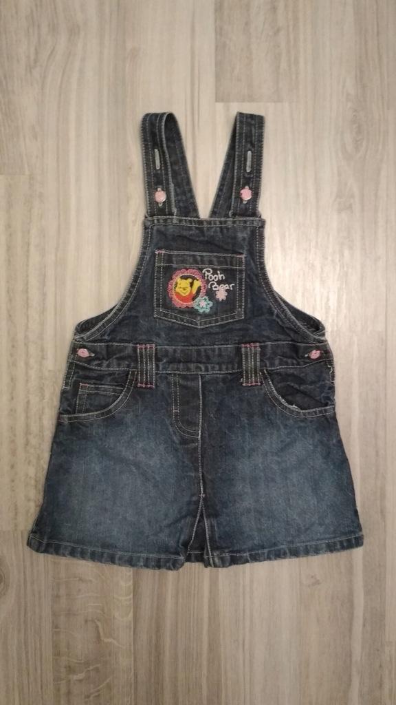 Sukienka jeans KUBUŚ PUCHATEK rozmiar 86 DISNEY