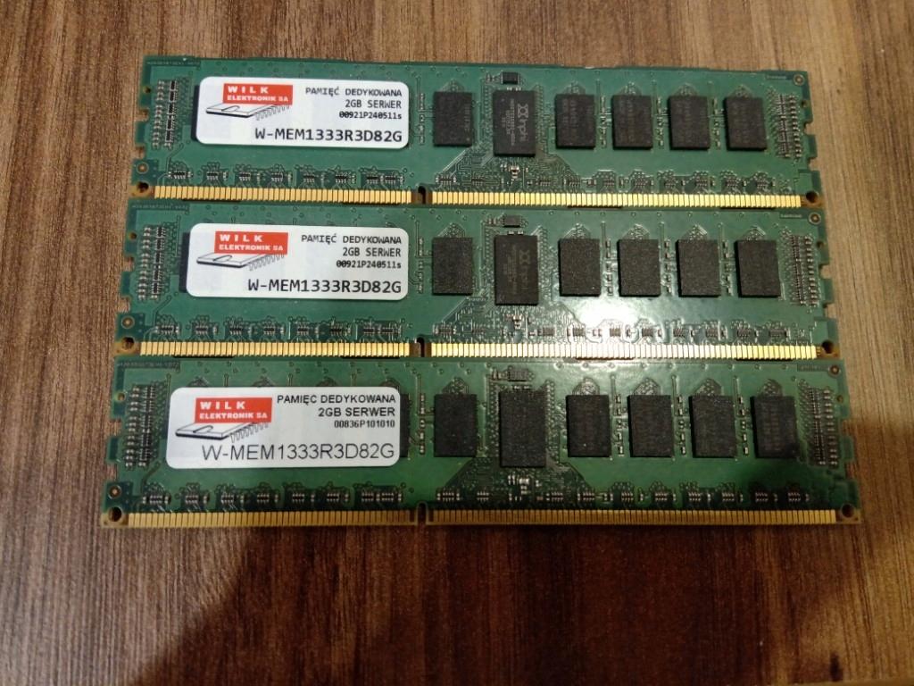 Pamięć ram 6gb DDR3 ecc 1333mhz