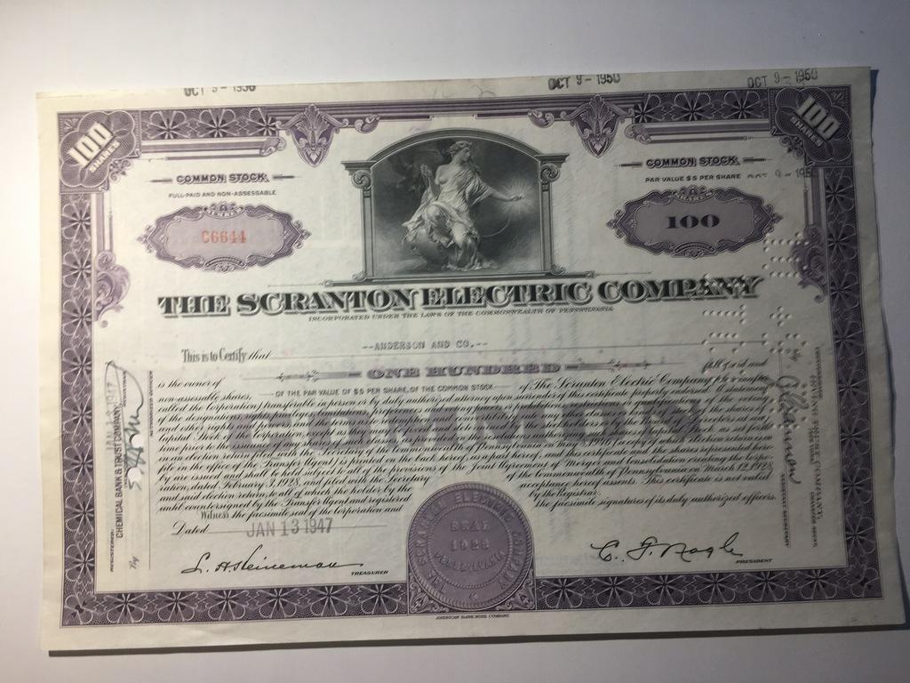 THE SCRANTON ELECTRIC COMPANY - 1947
