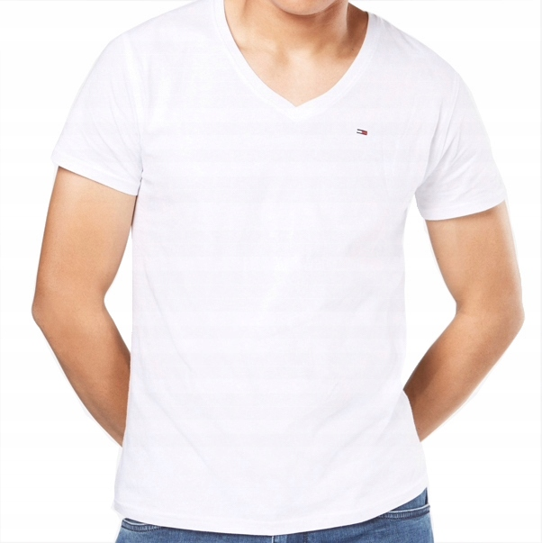 TOMMY HILFIGER T-Shirt Koszulka MĘSKA BIAŁA- S