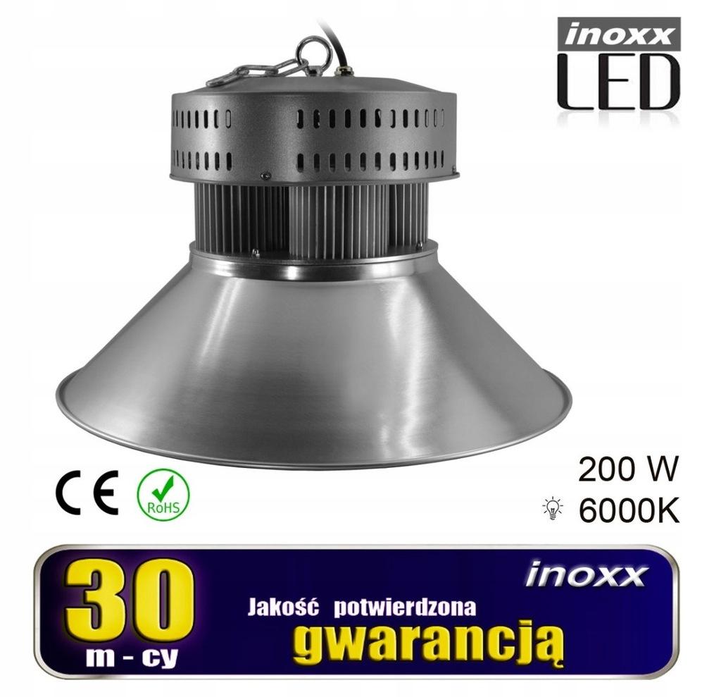 Lampa przemysłowa led 200w high bay cob 6000k zimn