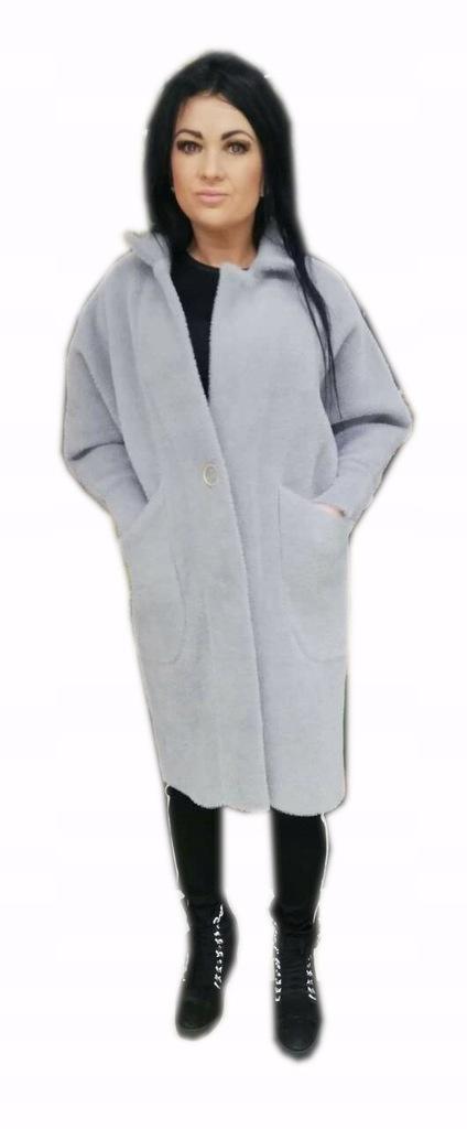 Płaszcz Ciążowy Alpaka Oversize Szary