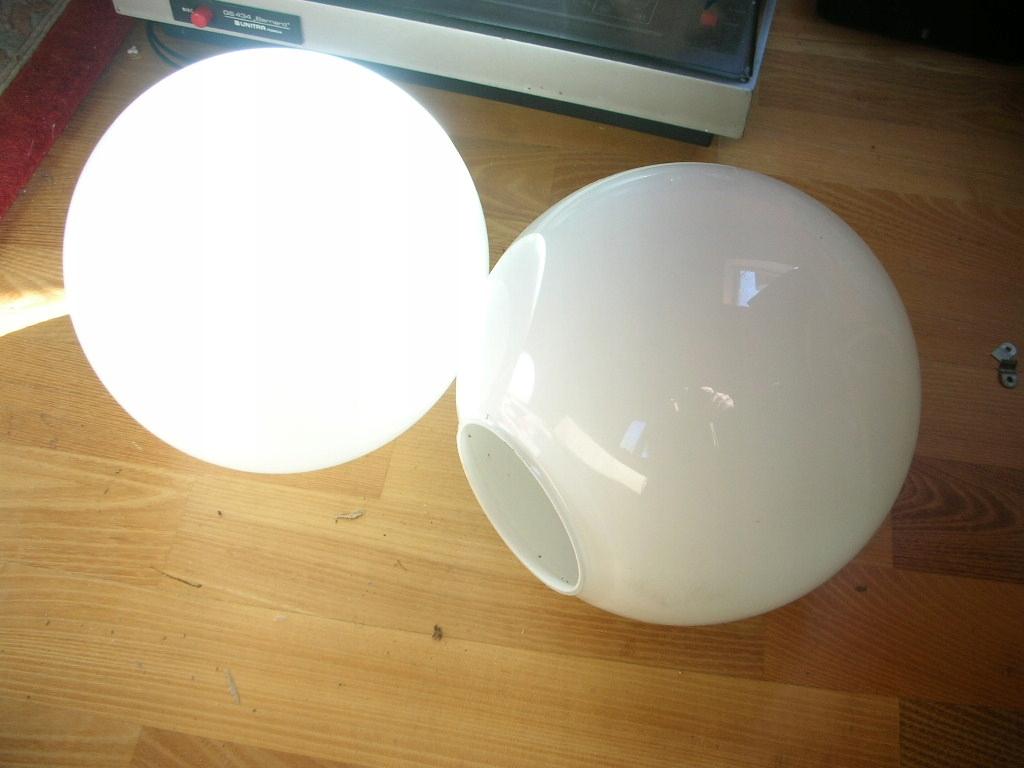 Klosz szklany ,kula biała 20cm