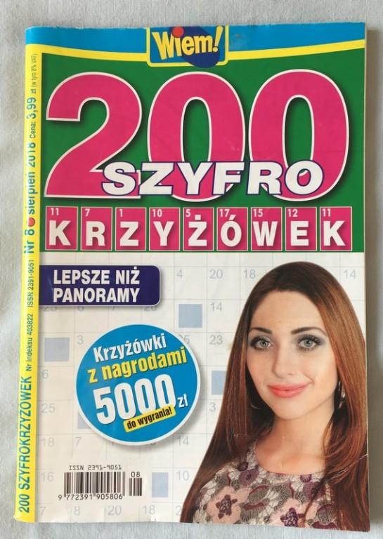 200 szyfrokrzyżówek  nowe
