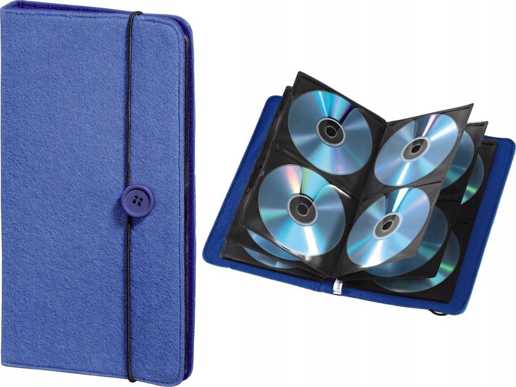 HAMA CD WALLET Pokrowiec Etui 48 płyt CD DVD BLUE