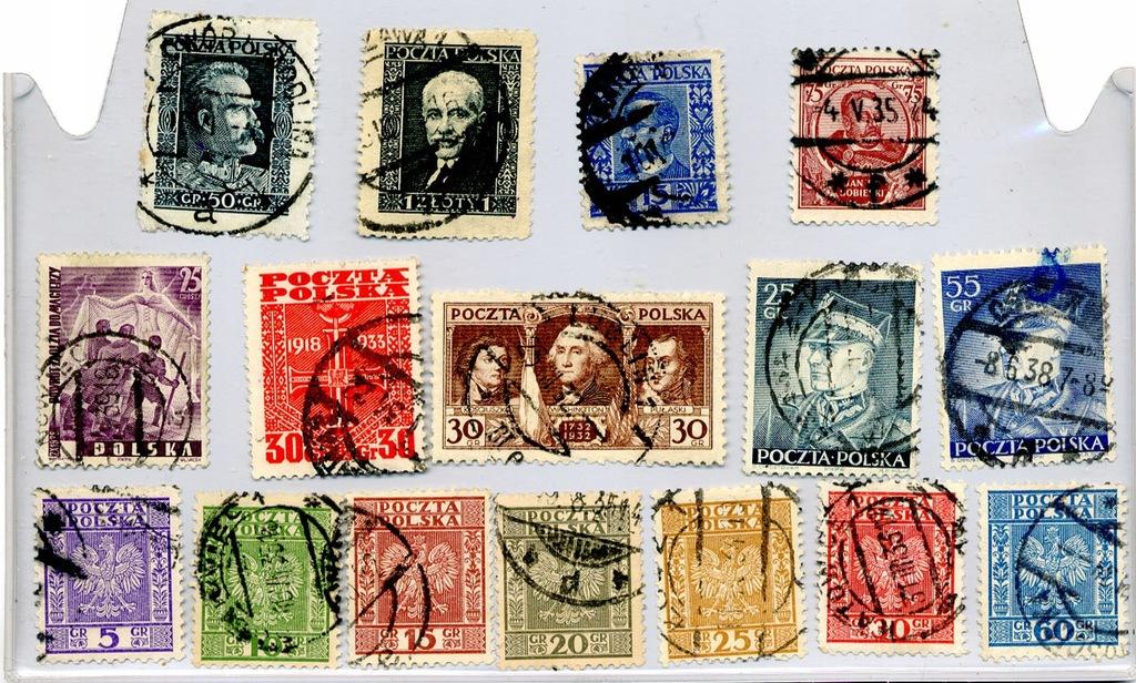Zestaw różne 1928 -1938 16szt