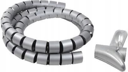 Organizer kabli LogiLink KAB0013 spiralny srebrny