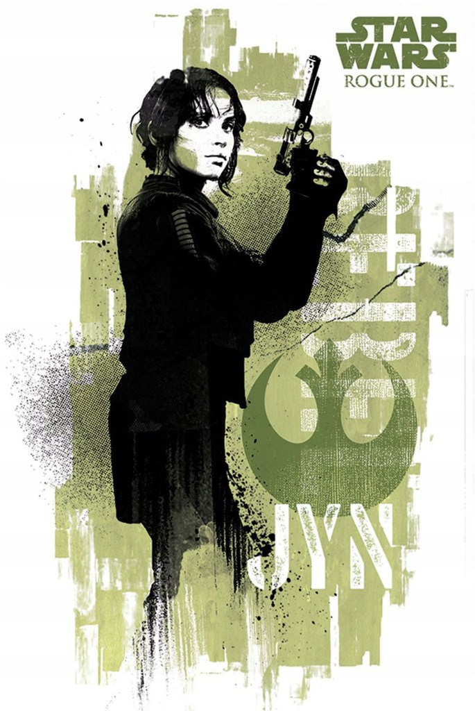 Star Wars Łotr 1 Jyn Grunge - plakat 61x91,5 cm