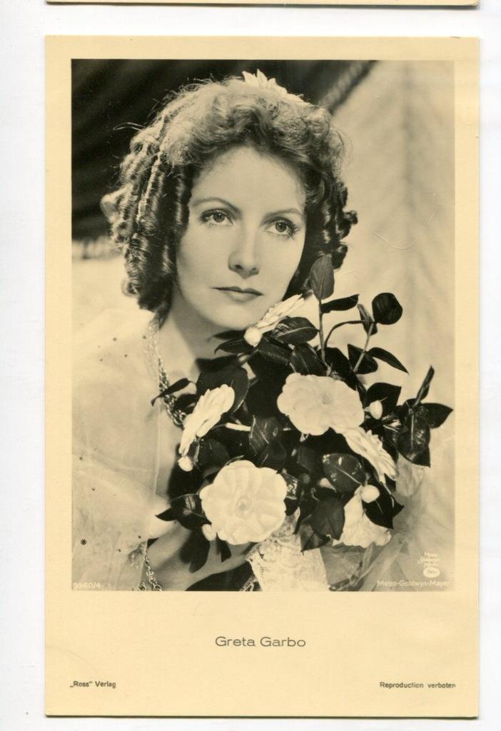 Greta Garbo Kino Film Aktorka Foto Pocztówka 23