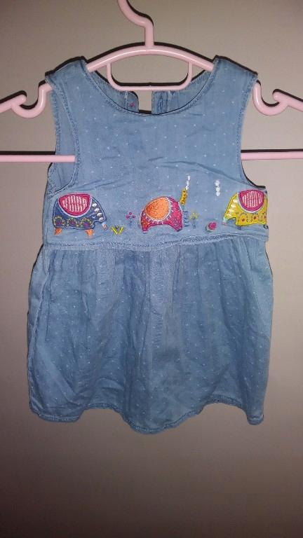 TU jeansowa sukienka 68-74