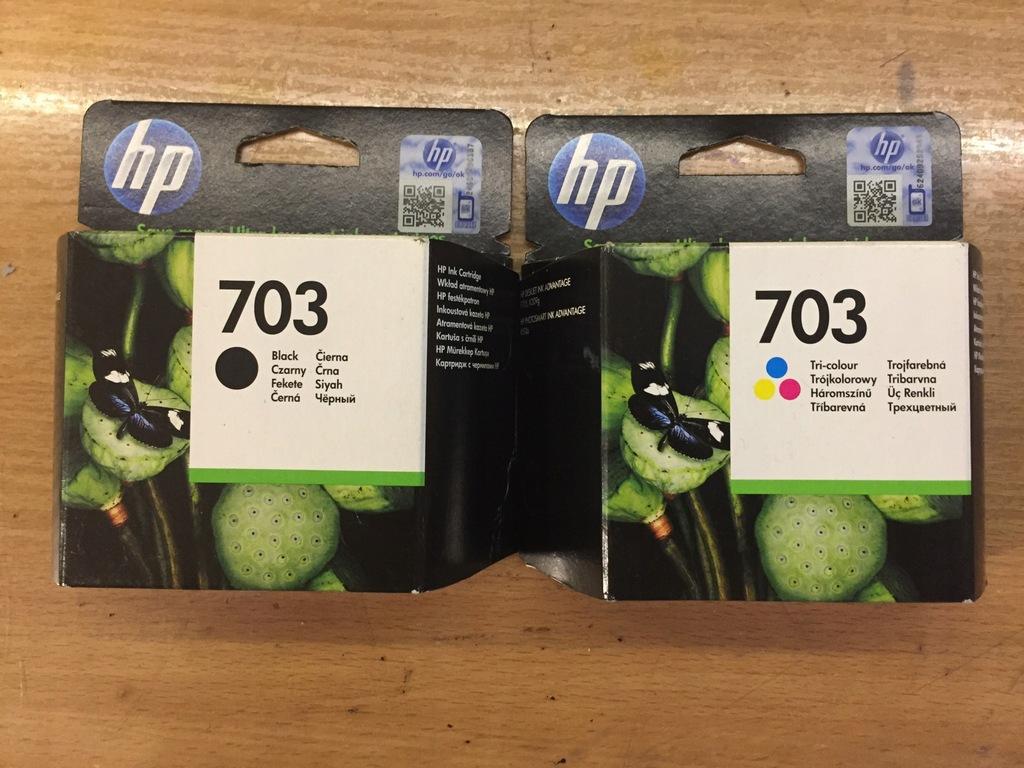 HP 703 ( CD887AE + CD888AE ) czarny + kolor