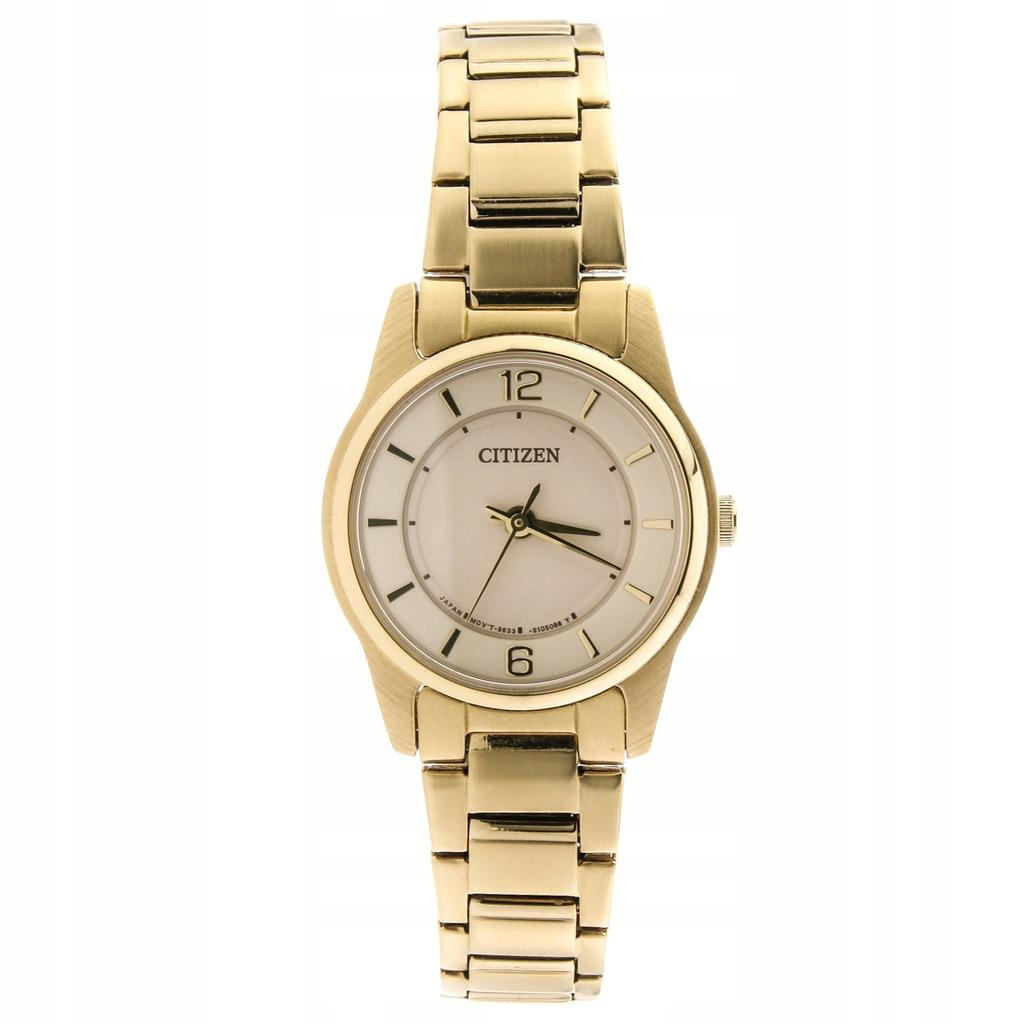 Zegarek CITIZEN ER0182-59A damski złoty bransoleta