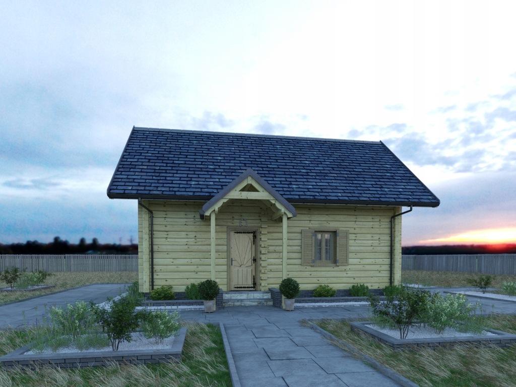 Dom z bali 70m.kw, szybki montaż, krótkie terminy.