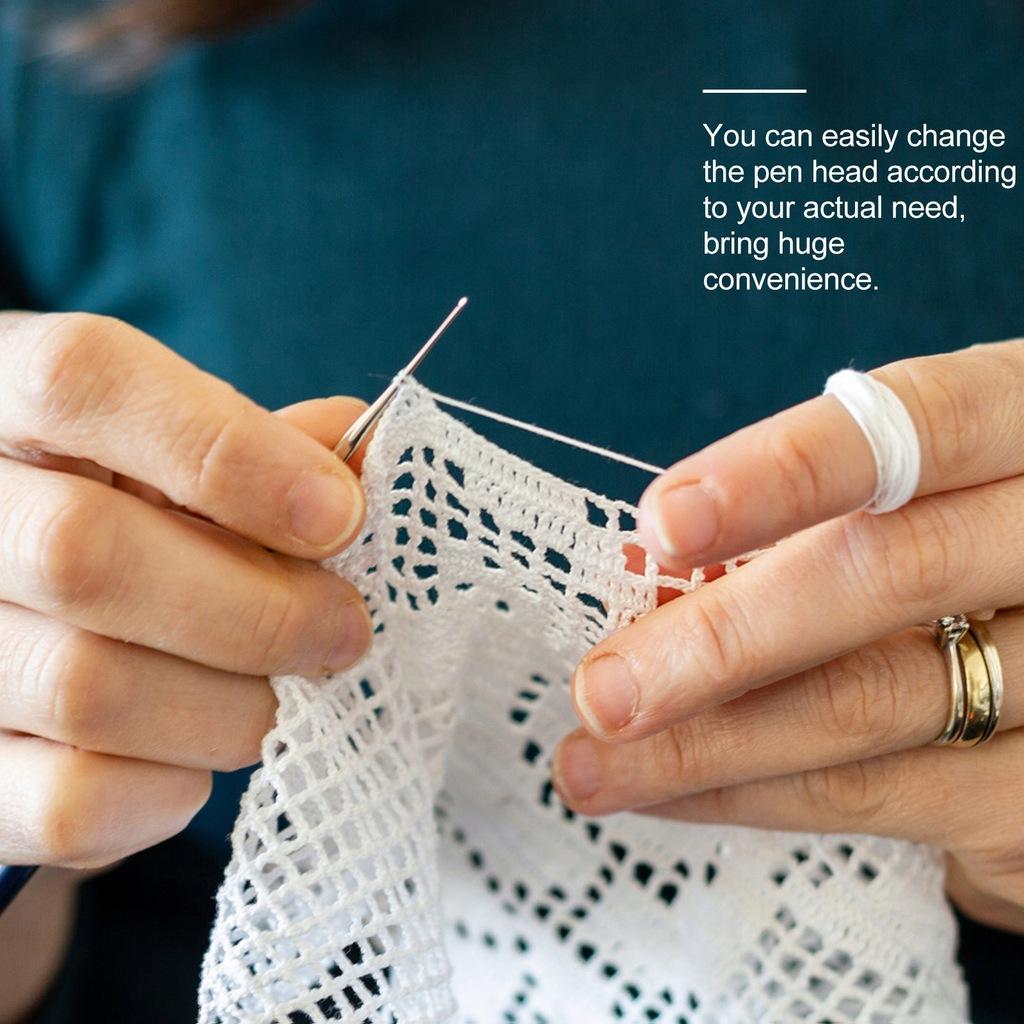 1 zestaw DIY narzędzie do robienia na drutach krys