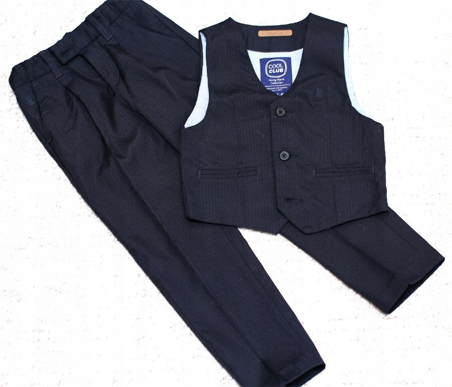 Garnitur chłopięcy eleganckie spodnie kamizelka