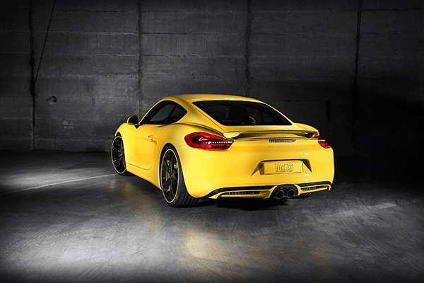 Obraz Samochód Żółte Porsche - 60x40 EKO
