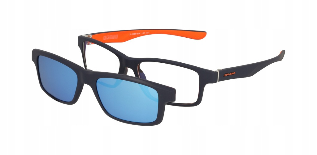 Okulary Solano CL 30005 A z nakładką Clip On +szkł