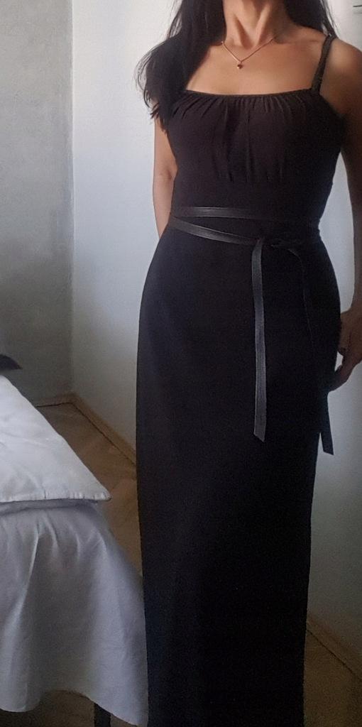 Piękna długa sukienka MaxMara 36