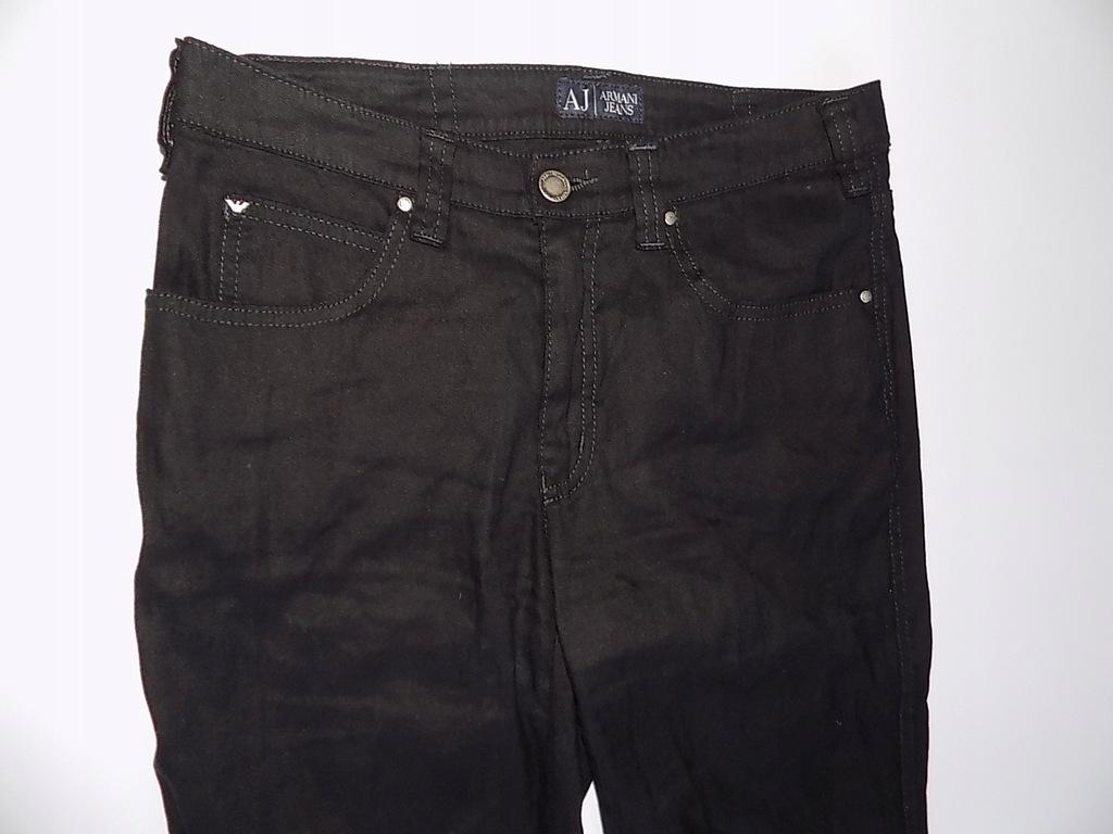 Armani len 63% spodnie męskie W30L32 casual czerń