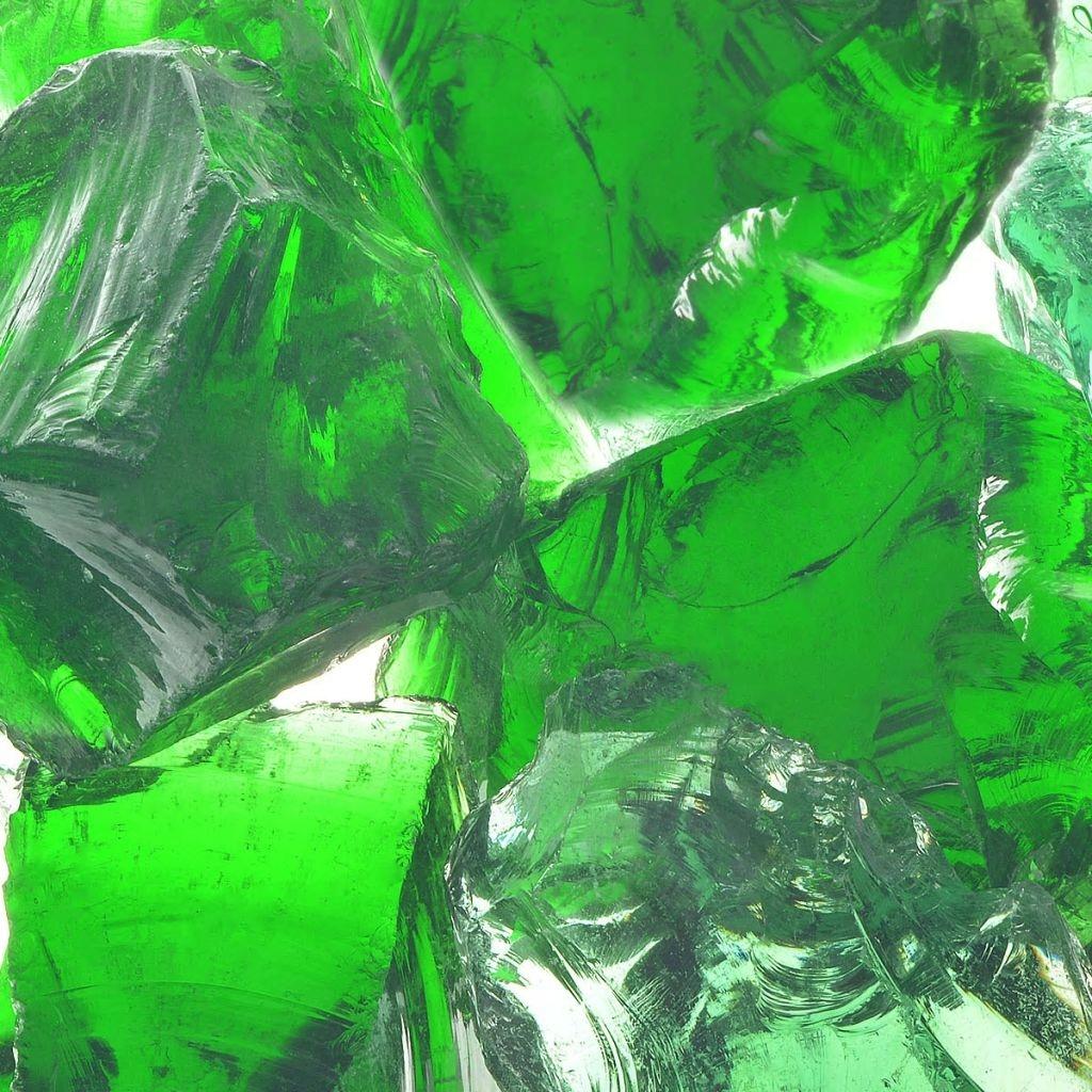Kamienie gabionowe 60-120 mm, 25 kg, zielone szkło