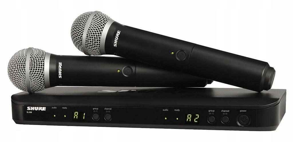 Shure BLX288E/PG58 Mikrofon bezprzewodowy do ręki