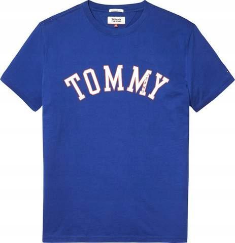 TOMMY HILFIGER T-Shirt Męski XXL Niebieski.
