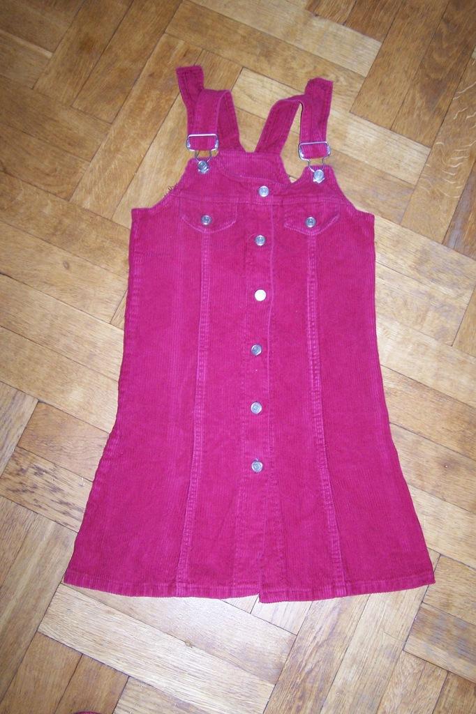 Sukienka sztuksowa bordowa r.134