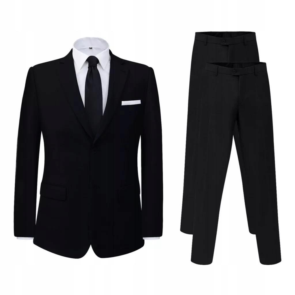 Garnitur z dodatkowymi spodniami czarny rozm. 56
