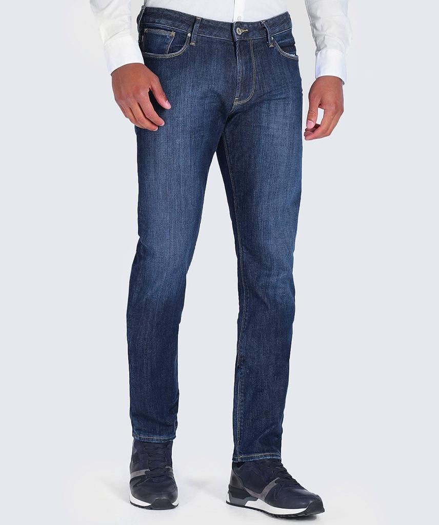 ARMANI JEANS markowe włoskie jeansy 40 SLIM NOWOŚĆ