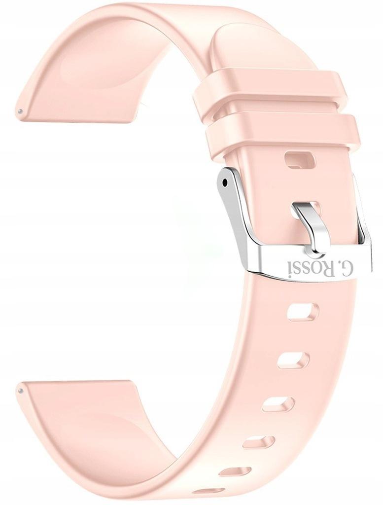 Pasek silikonowy do Smartwatch Gino Rossi SW09 RÓŻ