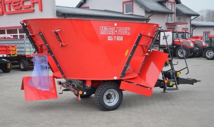 Wóz paszowy Paszowóz METAL-FACH T659 BELMIX 9m3